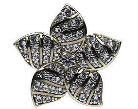 Earrings Five Petals 3D print model petal