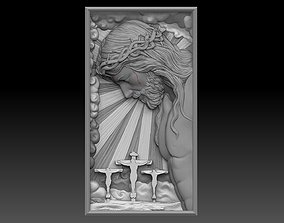 Crucified Jesus Pendant Bas-Relief 3D print