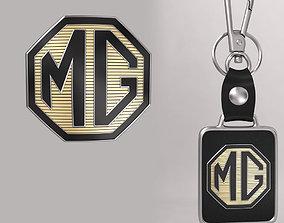 MG car logo keychain 3d model
