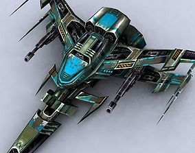 game-ready 3DRT - Sci-Fi Fighters Fleet - Fighter 13