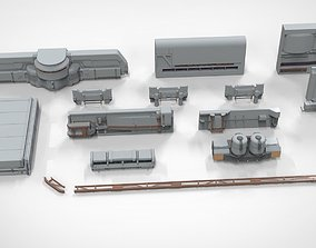 sci-fi Architectural element 9 3D model