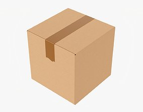 3D model Box sealed with packing tape mockup 03