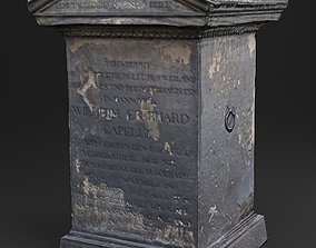 3D Scanned Tombstone - 01 low-poly