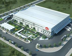 Factory landscape 3D model