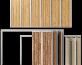 3D Sliding wooden partition wall door