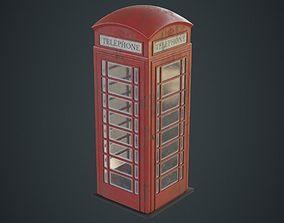 3D asset Phone Booth 1B