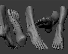 Female Foot Sculpt 3D model
