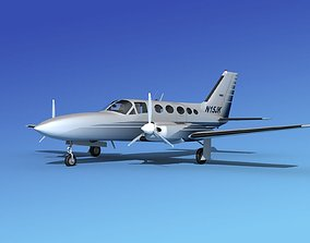 Cessna 414A Chancellor V13 3D model