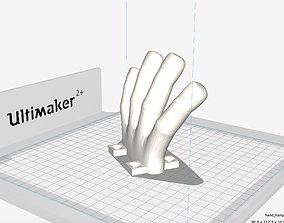 3D print model hand coat hanger receiver
