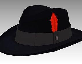 Fedora Hat 3D asset
