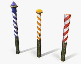 3D model Venice Cartoon Poles