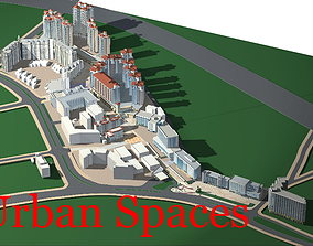 3D Commercial Complex in Urban City