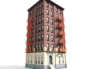 3D model Nyc Building 09 type2