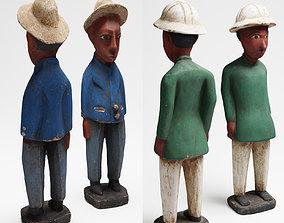 Two African wood sculpture 3d scan PBR