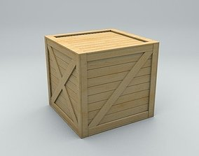 Old Wooden Shipping Transport Box 3D model VR / AR ready