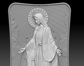 mother of Jesus Christ Mary Relief 3D printable model