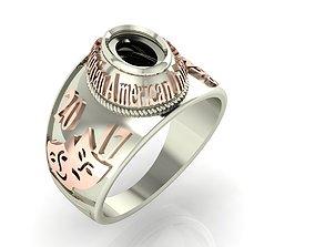 3D print model American Style Mens Ring