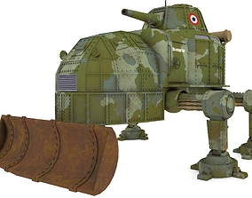 Dieselpunk Tank 3D model