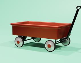 Children classic red wagon 3D