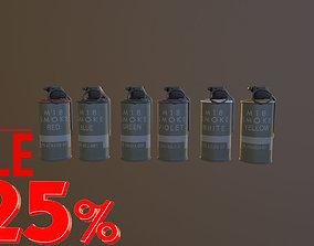 Grenade Six Flowers M18 Smoke Grenade USA PBR VR 3D model