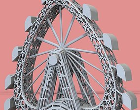 3D print model Heart-Shaped Ferris Wheel figurine