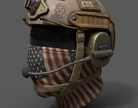 Helmet scifi military combat soldier 3D model