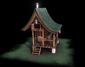 3D asset Rustic Cabin