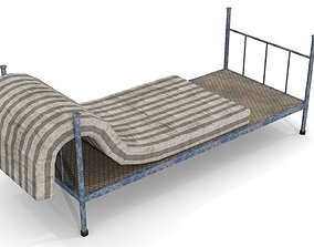 Old Dirty Single Bed 2 3D asset