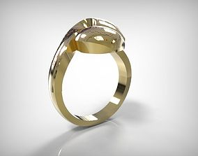 Jewelry Golden Ring Ribbon Top 3D print model