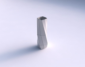 3D print model Vase twisted rectangle with huge plates