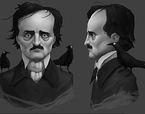 Edgar Allan Poe 3D asset