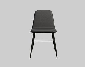 SpineMetalbase black leather 3D model