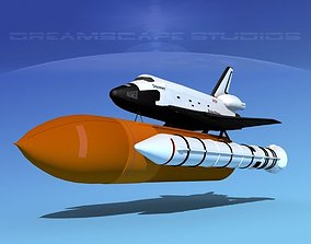 STS Shuttle Discovery Launch MP 2-1 3D model