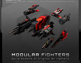 3D model MODULAR SF Fighters GXX