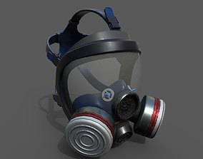 realtime Gas mask helmet 3d model military