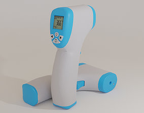 Realistic Low poly Infrared Thermometer 3D asset