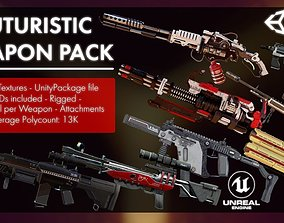 Futuristic Weapon Pack - Unity and Unreal 3D asset