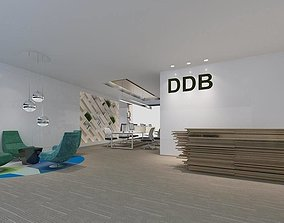 office reception hall design complete 09 3D