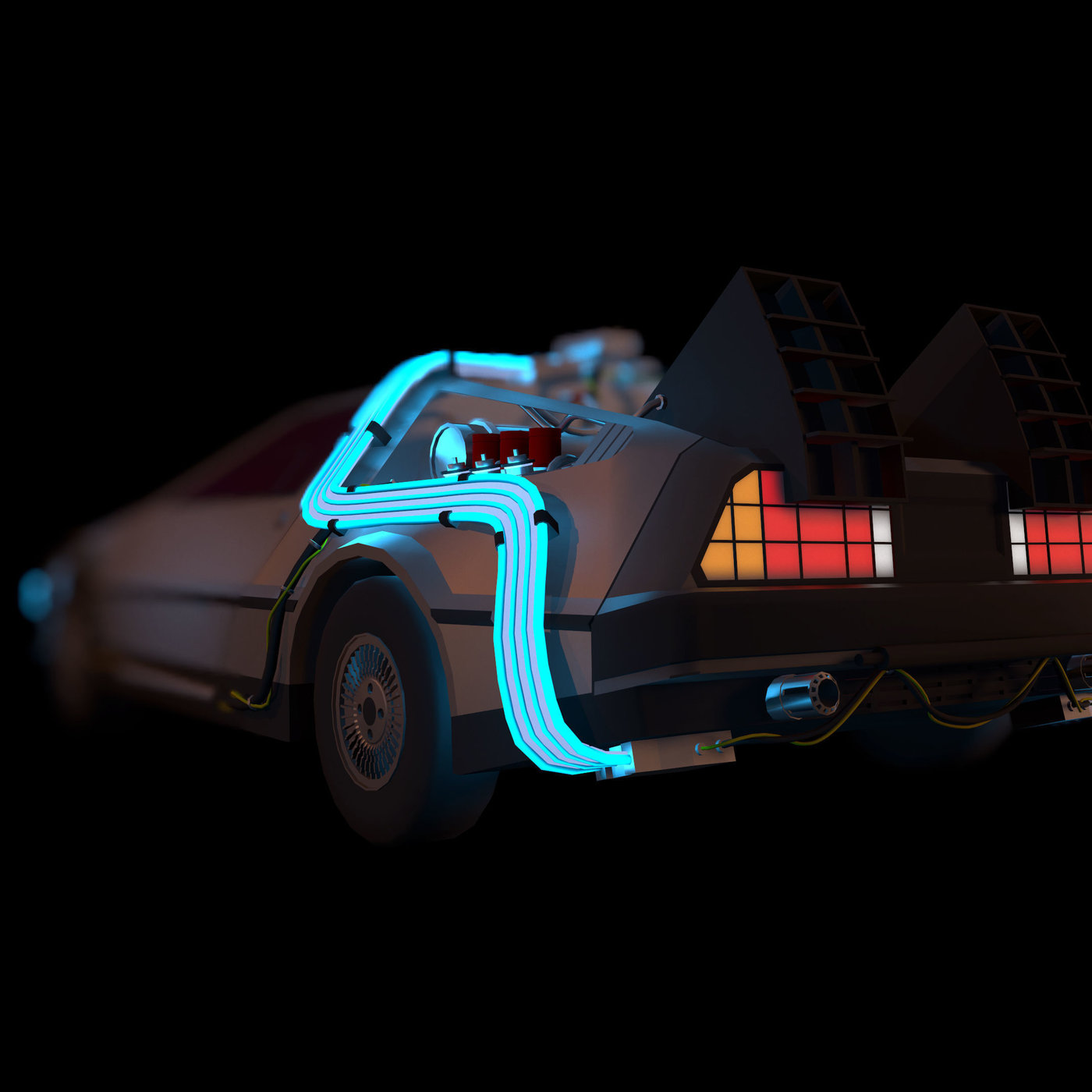 Back to the future Delorean car