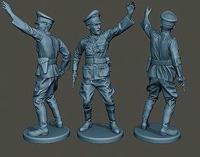 German Officer ww2 warning G5 3D printable model