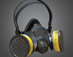 Respirator TLS - PBR Game Ready 3D model