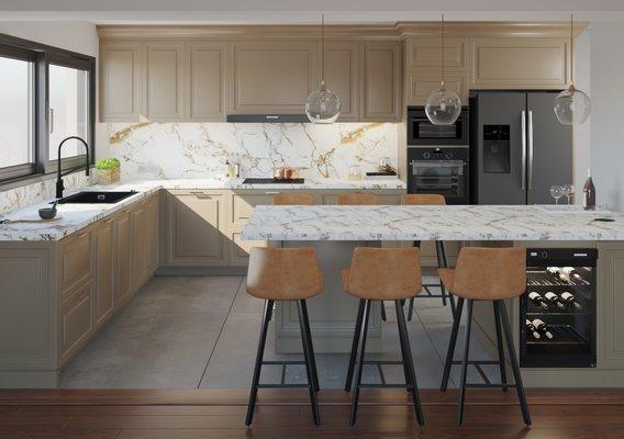 Tahona's house kitchen | Interior visualization