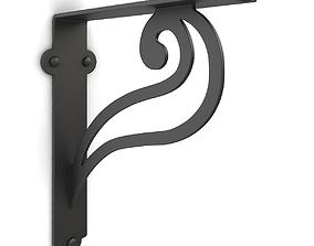 3D model Iron shelf bracket