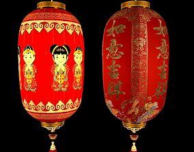 Chinese red lantern oriental 3D