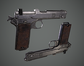 Steyr Hahn M1912 M12 gun 3D asset