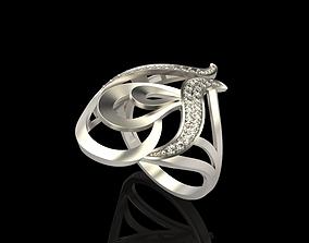 3D printable model Long finger ring