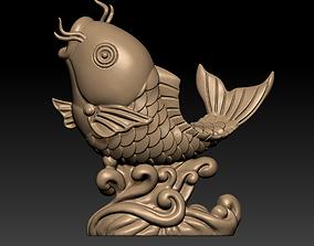 3D printable model a jumping fish