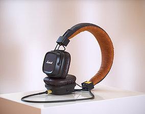 3D Black headphones HG2