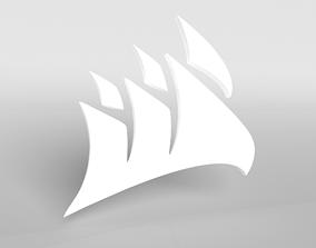 3D model Corsair Logo v1 002