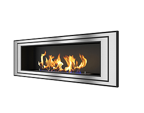 Modern indoor fireplace 3D